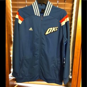 Oklahoma City Thunder OKC Adidas NBA XL Jacket Men